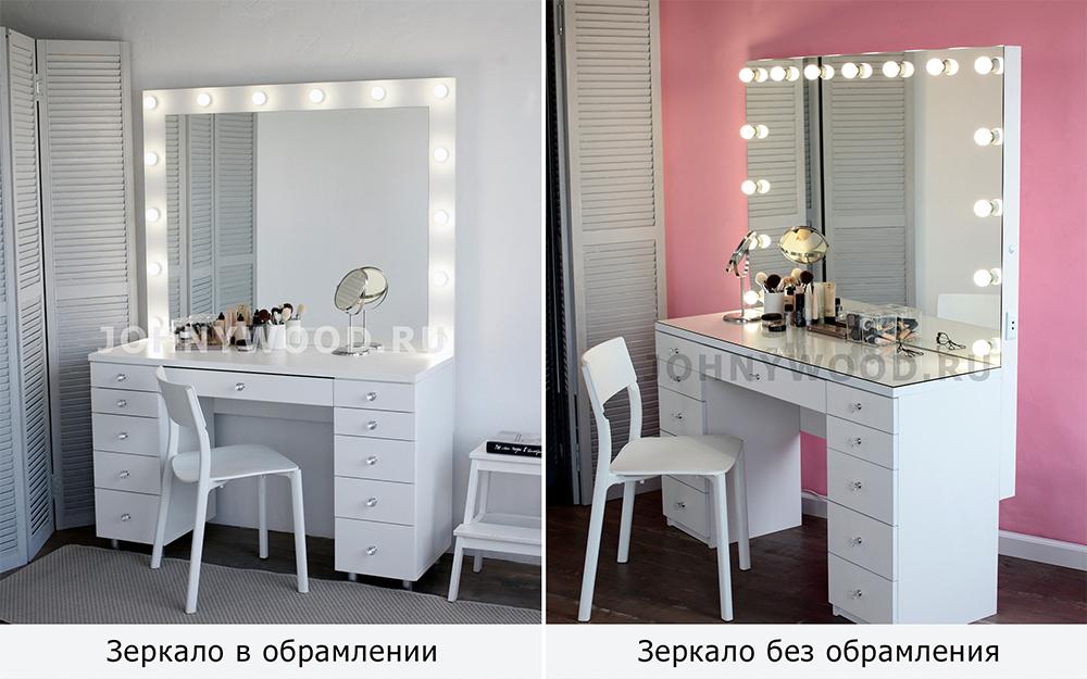 как выбрать туалетный столик с зеркалом Johny Wood